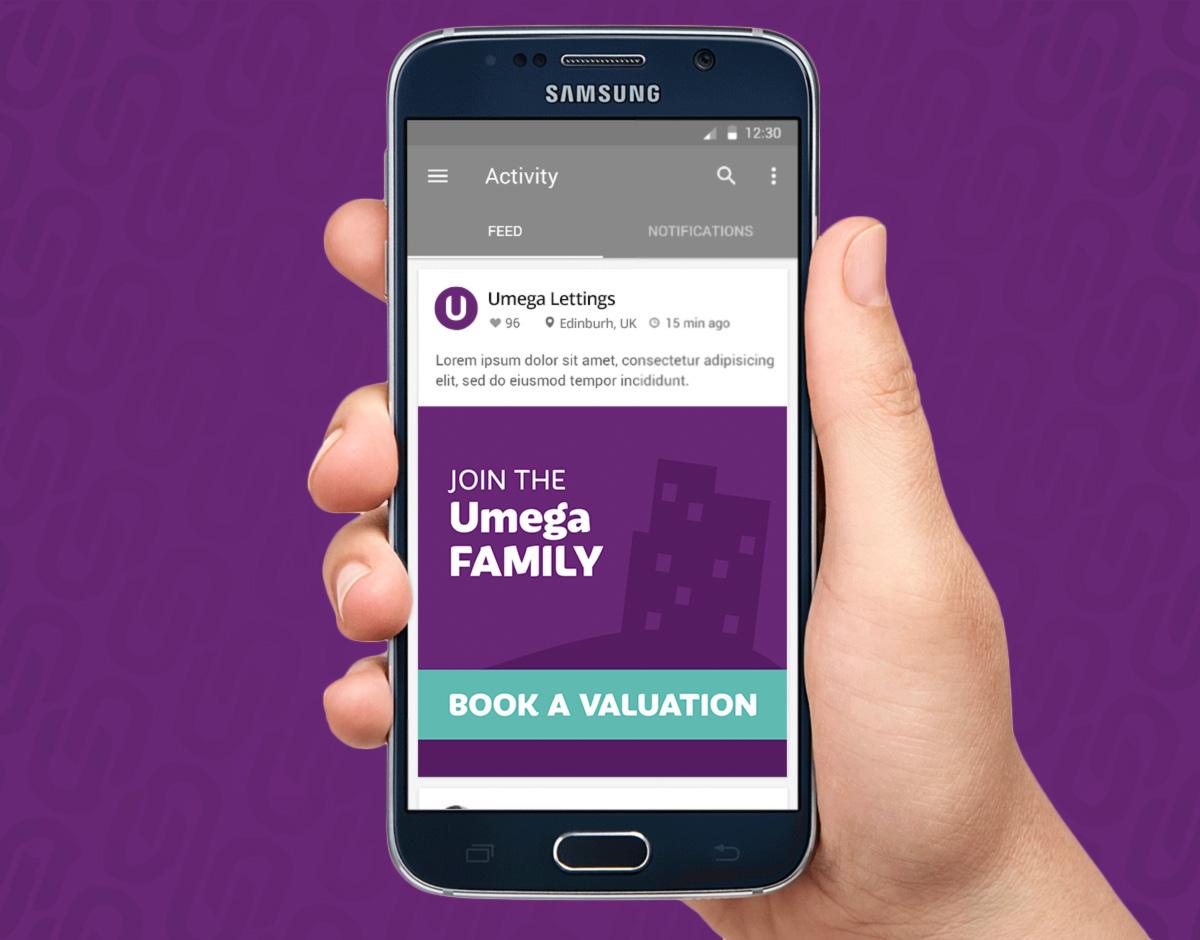 Umega lettings mobile display ad