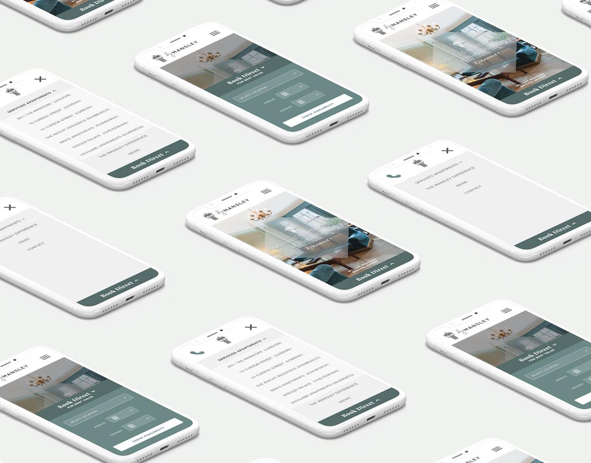 Mansley mobile website showcase