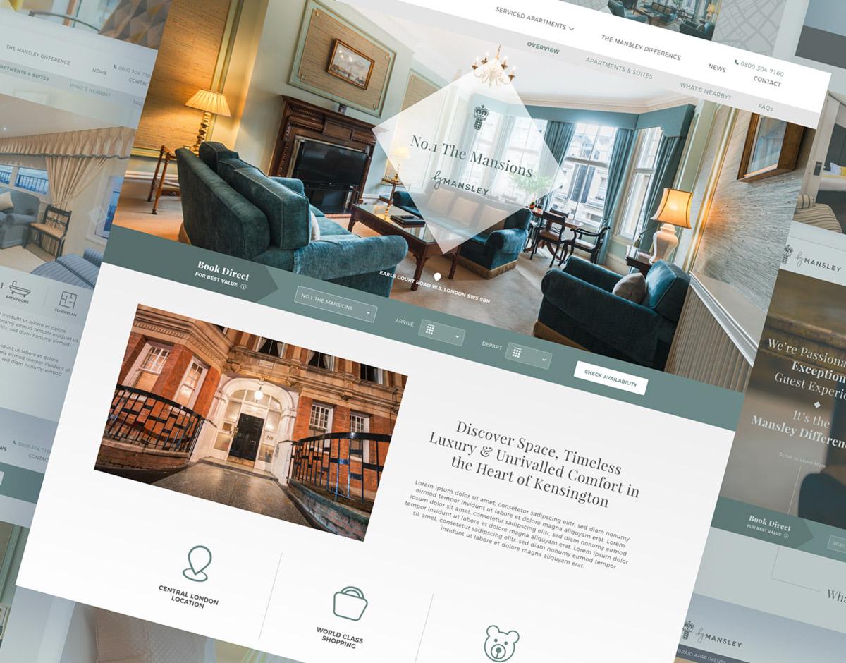 Mansley website showcase