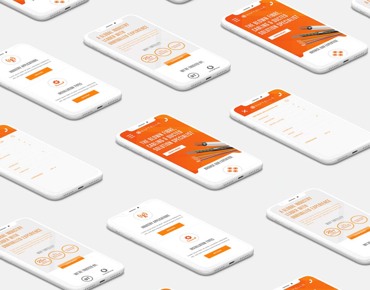 Emtelle mobile website showcase