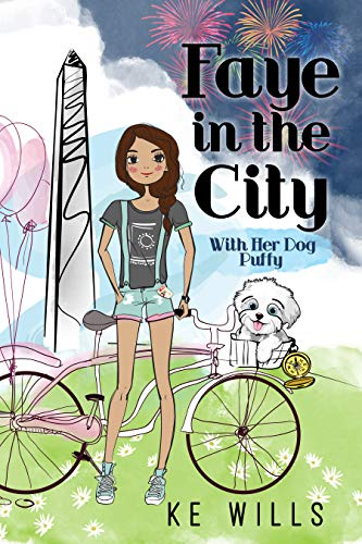Faye in the City: With Her Dog Puffy