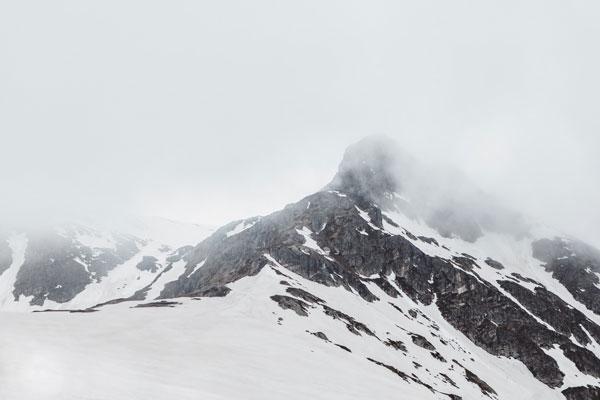 High-key image mountain landscape