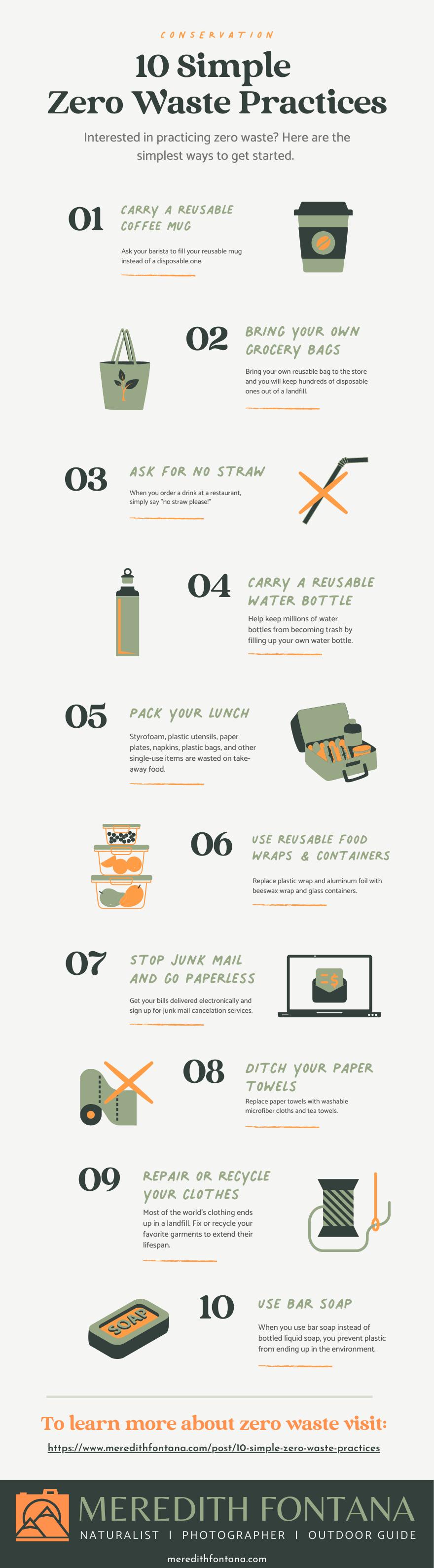 10 simple zero waste practices