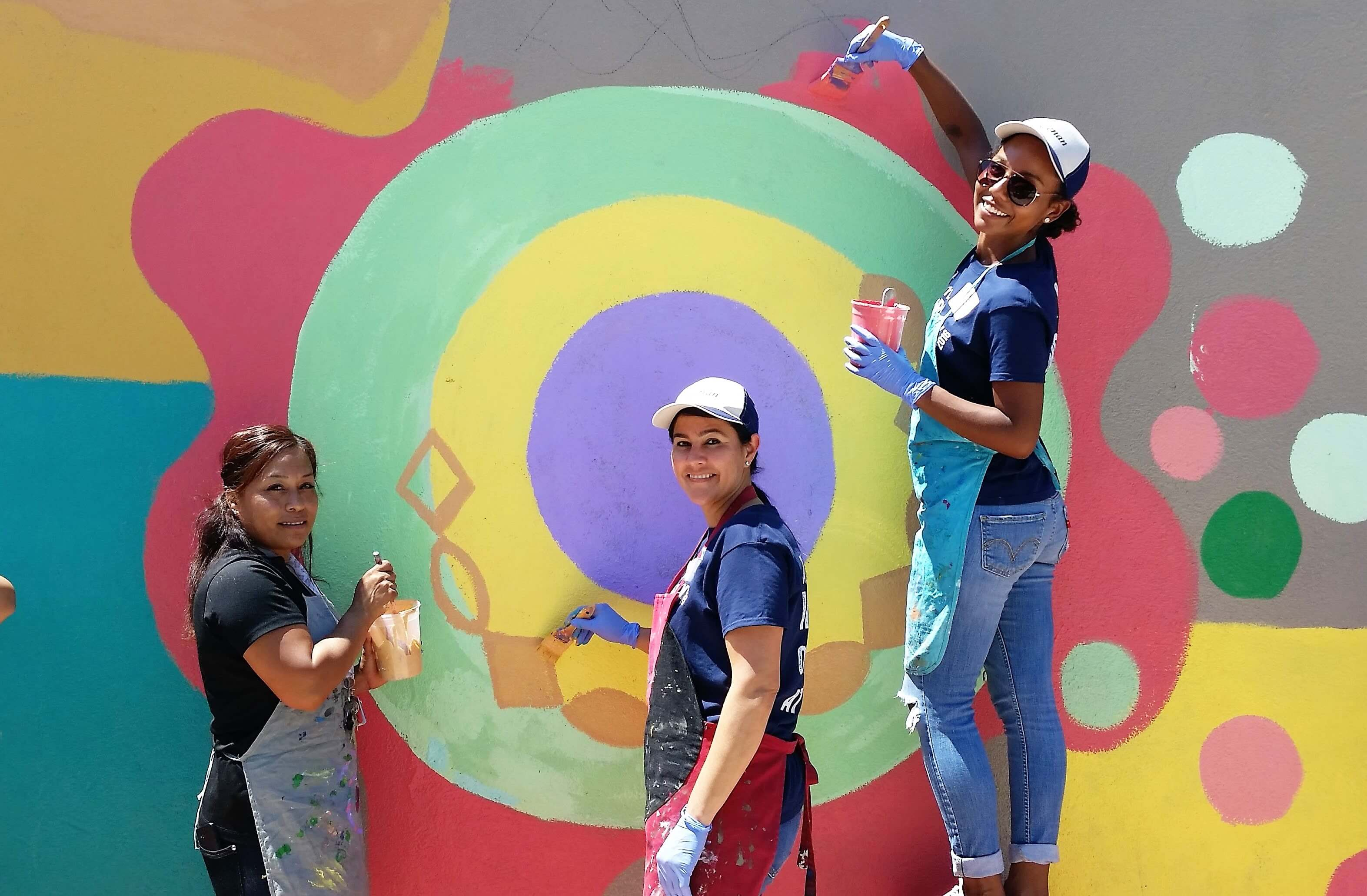 Circle Painting uses the circle theme and radial symmetry to create artworks