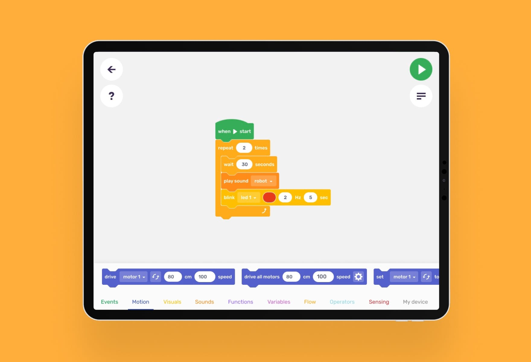 Robo Blockly, kids coding language by Robo Wunderkind