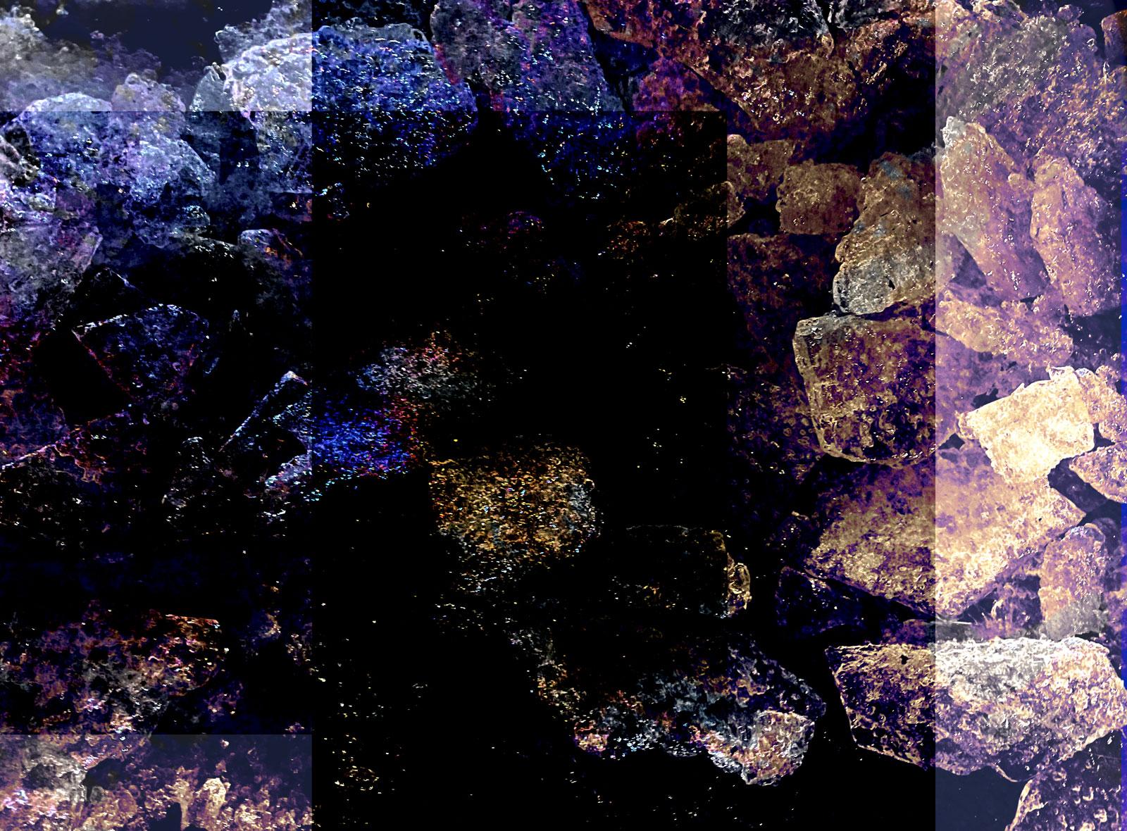 Elemental Frost N03 - Crystals • 122 x 90 cm (48.03 x 35.43 in)