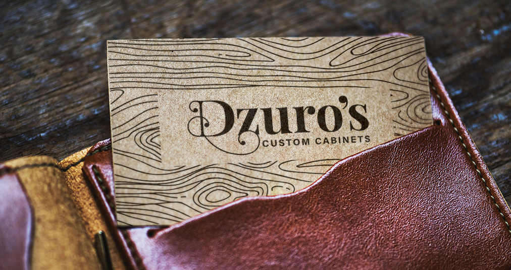 Dzuro's Ventura Custom Cabinets Brand Identity Logo Design