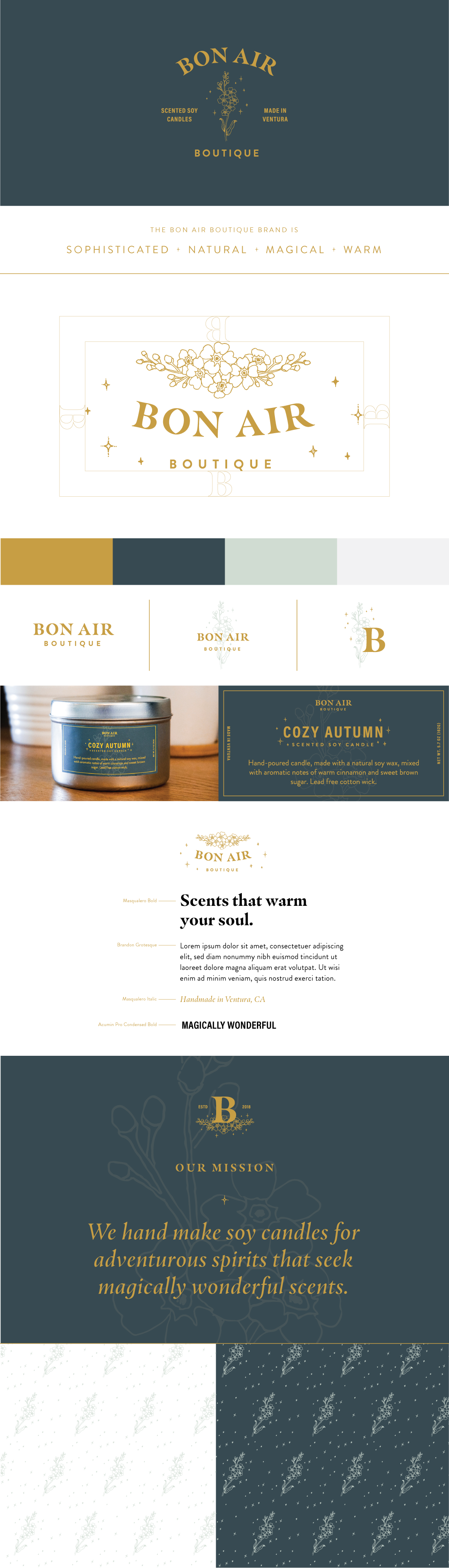Bon Air Soy Wax Handmade Candles Brand Identity Wander Design Co