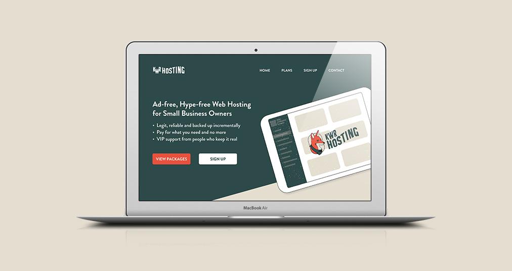 Keeping Websites Real Brand Identity secondary logo fox custom illustration website mockup page 1