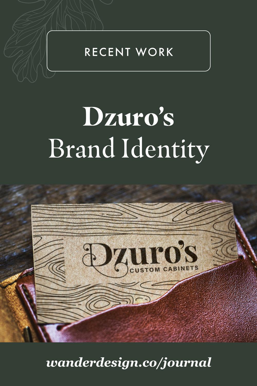 Dzuro's Custom Cabinets Brand Identity