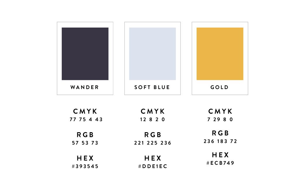 Wander Design Co Brand Color Palette