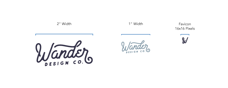 Logo Dimensions Examples for Professional Brand Identity Guidelines