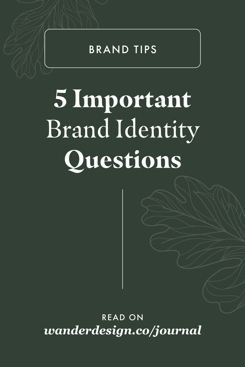 5 Important Brand Strategy Questions