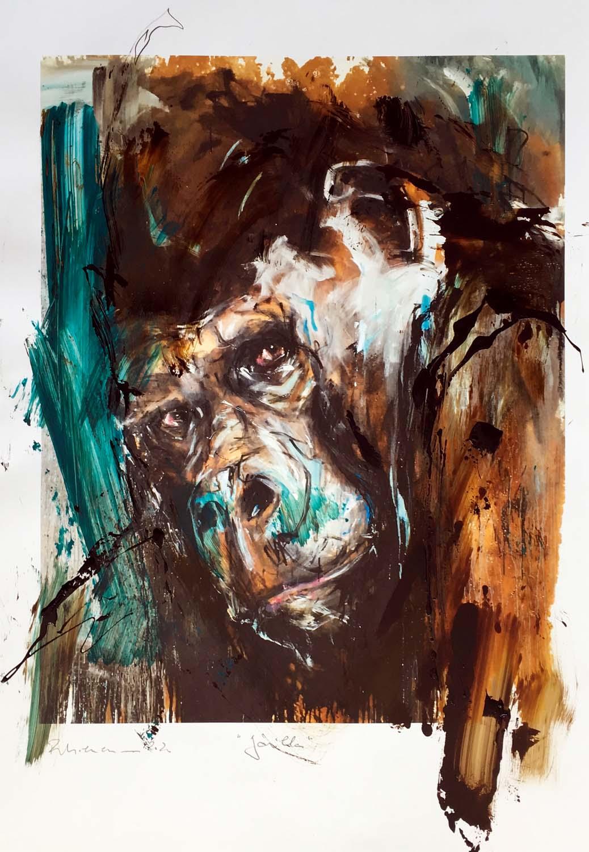 Gorilla Übermalung