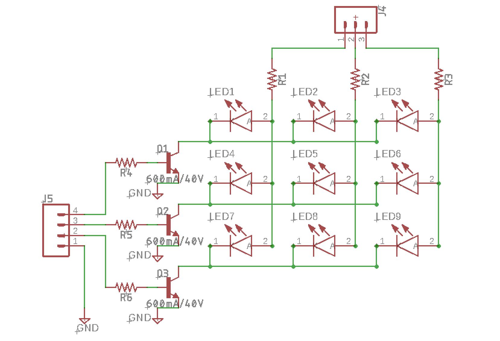 Schematic of the UVled matrix.