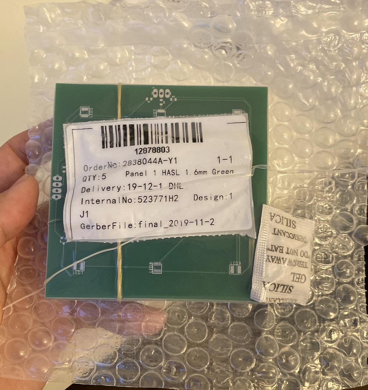 PCBboards packaged after being sent out.