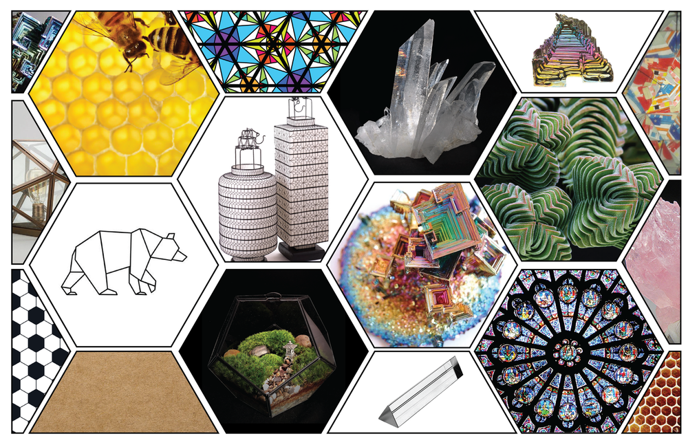 Moodboard showing my sources of form design inspiration.