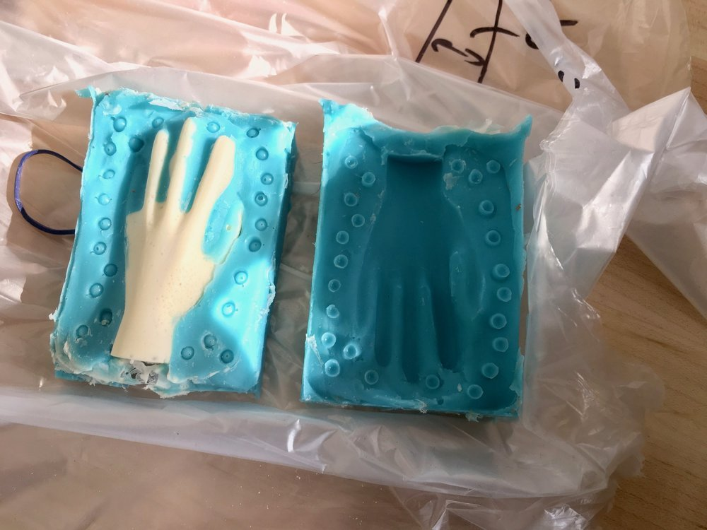 Failed first cast part using first mold.