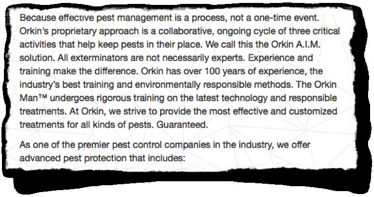 Orkin Why Us