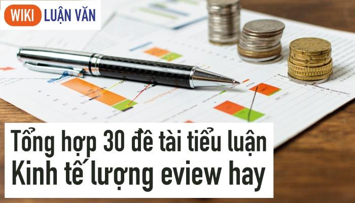 Tổng hợp 30 đề tài tiểu luận kinh tế lượng eview đạt điểm cao