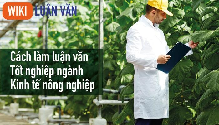 Cách làm luận văn tốt nghiệp ngành kinh tế nông nghiệp