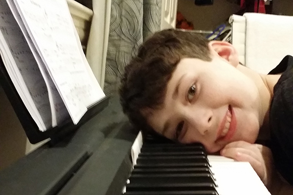 Ben studies piano at Greenwich Arts Academy