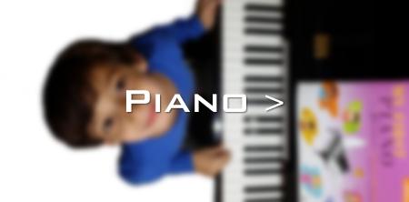 Benji studies piano at Greenwich Arts Academy