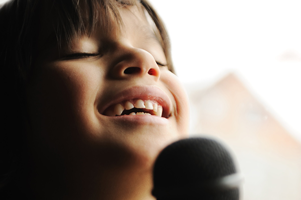 Abel loves learning voice and singing at Greenwich Arts Academy