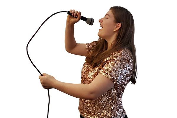 Athena studies voice and singing at Greenwich Arts Academy