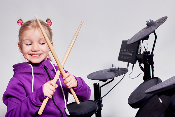 Everyone loves learning drums at Greenwich Arts Academy