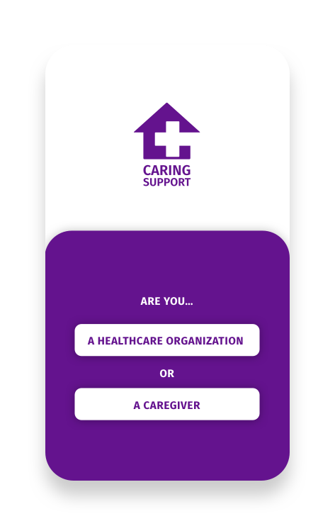 Image of Caring Support Home Screen