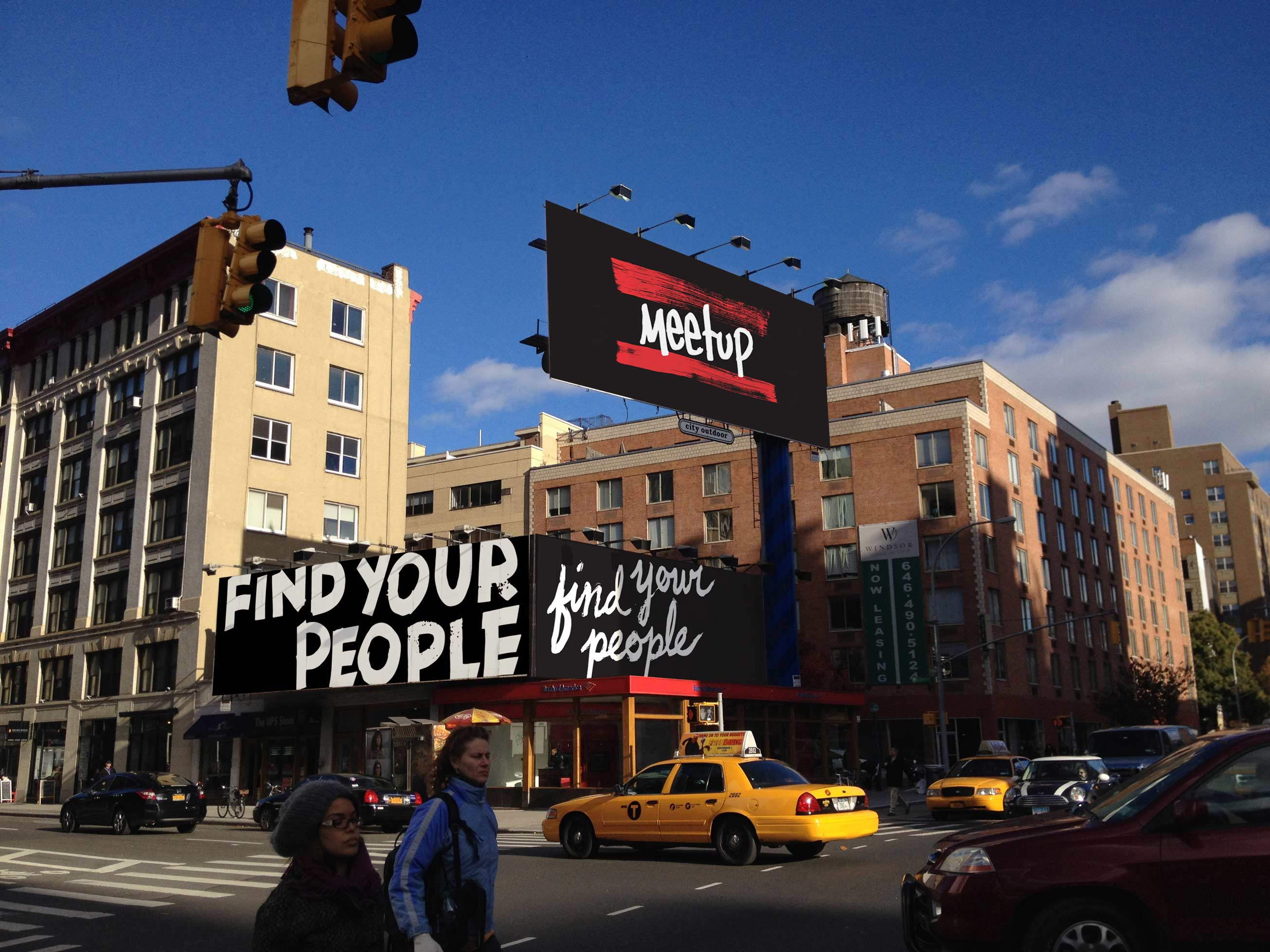 Photo of the billboard in Manhattan