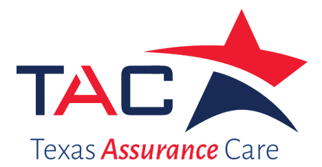Texas Assurance Care logo. TAC and a red and blue star.