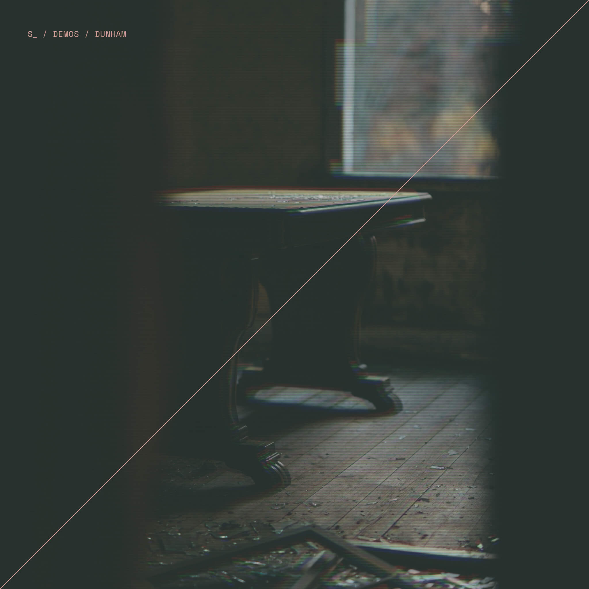 Image of an abandoned room. The album cover for Dunham