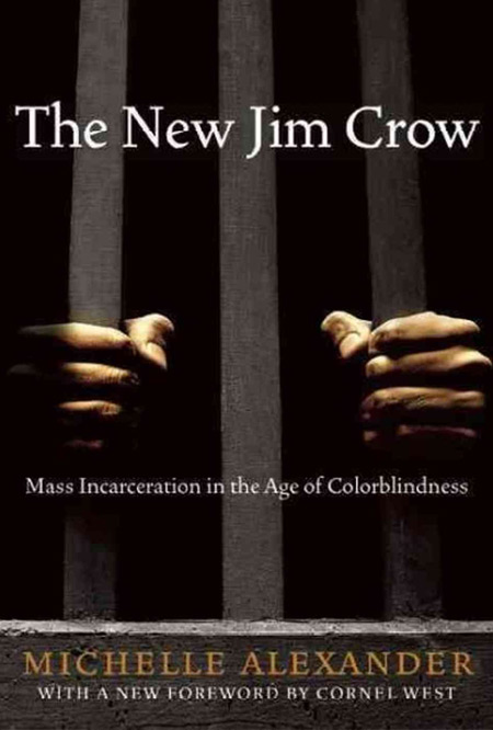 Book cover of The New Jim Crow by Michelle Alexander