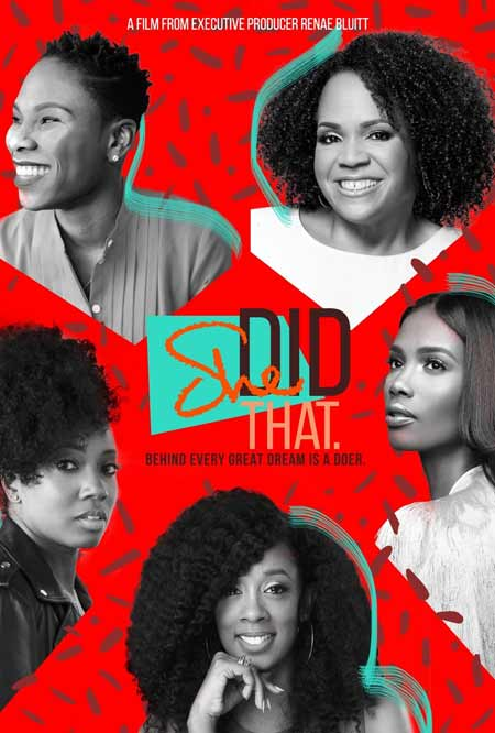 "Cover for the documentary ""She Did That"""