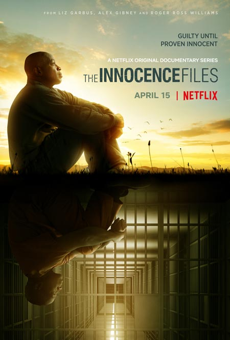 "Cover for the Netflix documentary series ""The Innocence Files"""