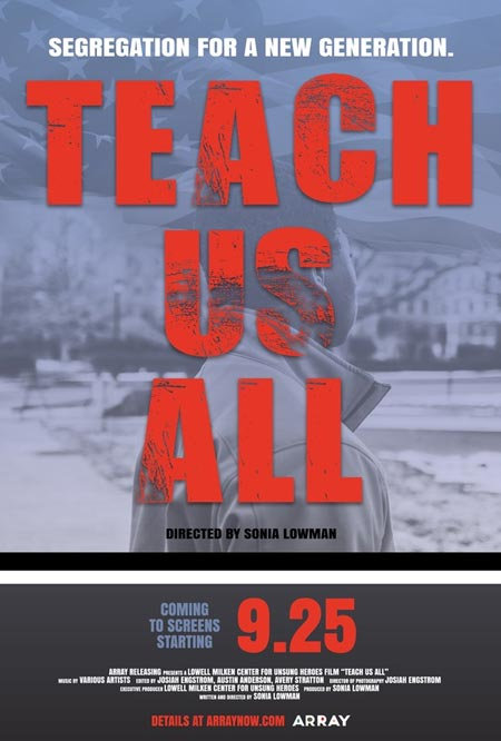 "Cover for the documentary ""Teach Us All"""