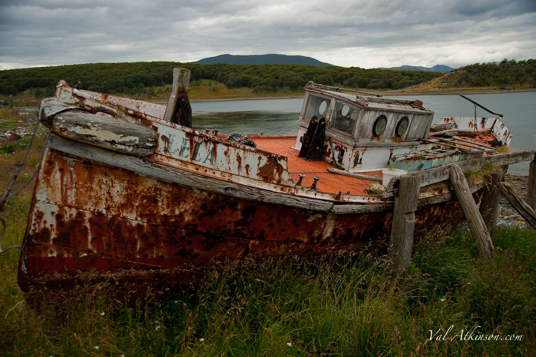 Old rusted boat.
