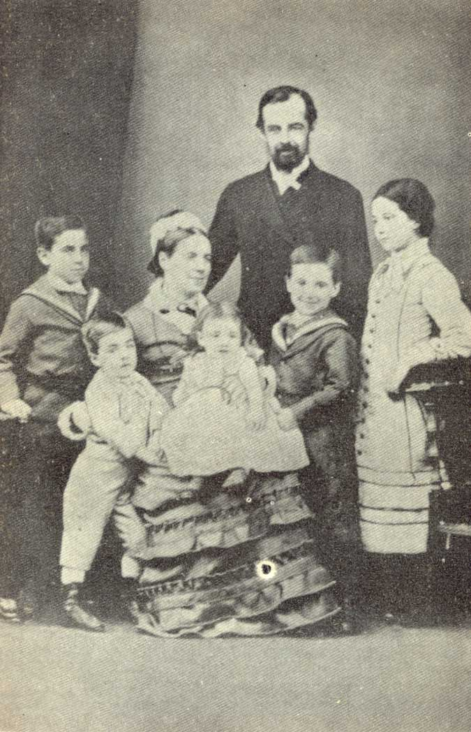 Thomas Bridges with his wife and children.