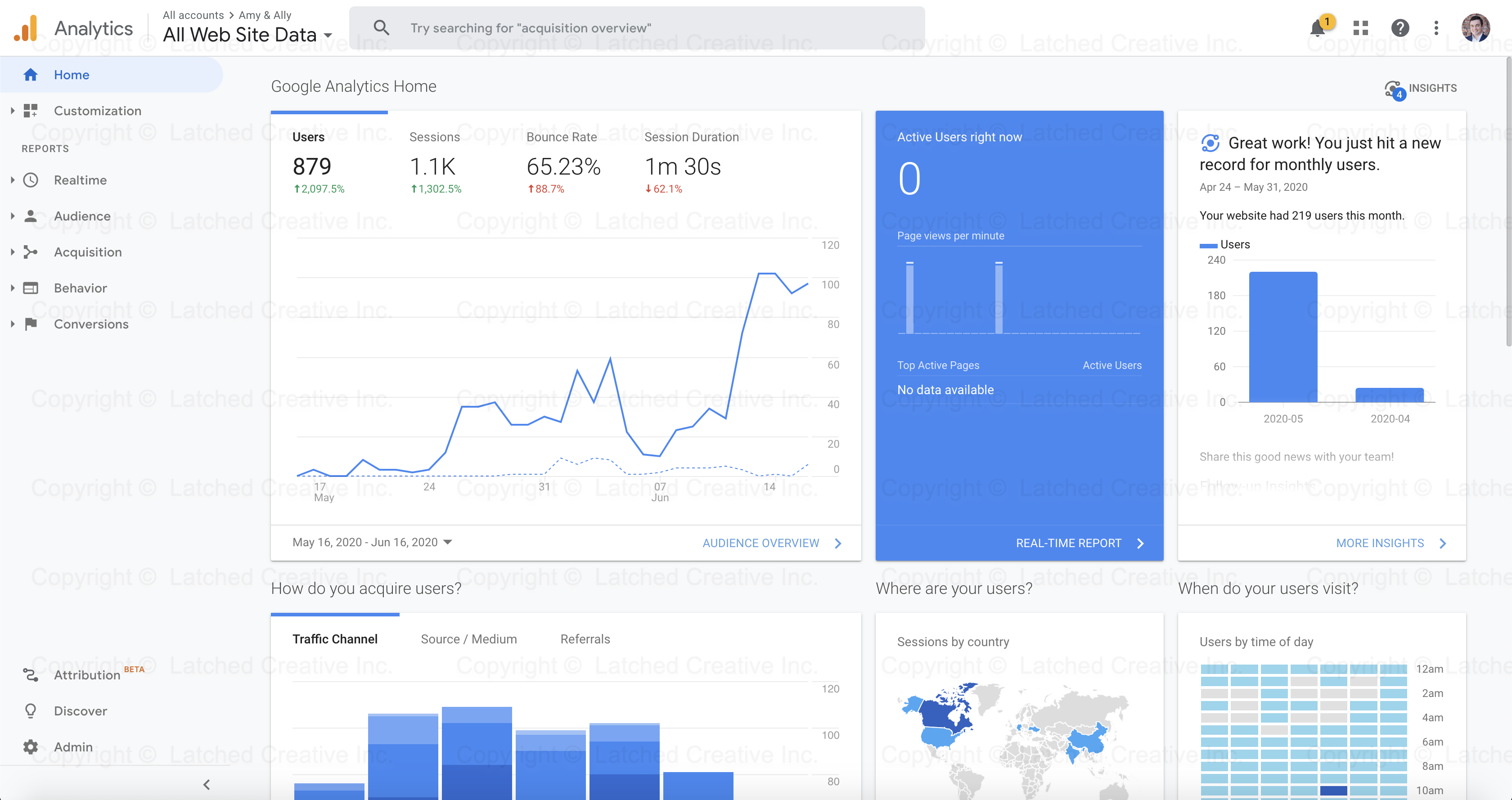 Amy & Ally Google Analytics Data 1