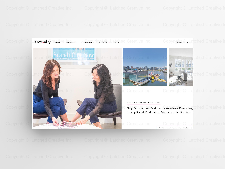 Amy & Ally Website Design Showcase