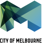 Logo for MAKE partner and client the City of Melbourne (CoM).