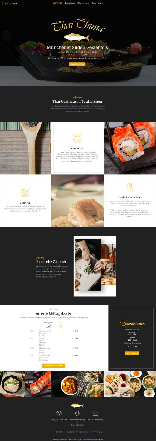 Vorschau Thaithuna Desktop Responsive Design