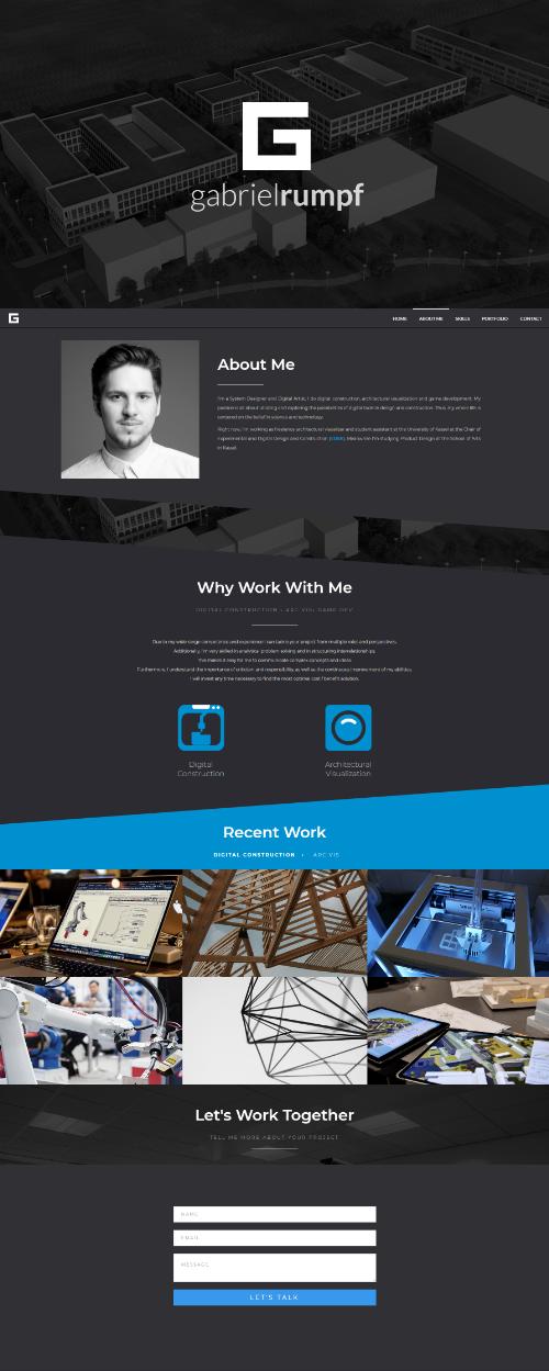 Vorschau Portfolio Desktop Responsive Design