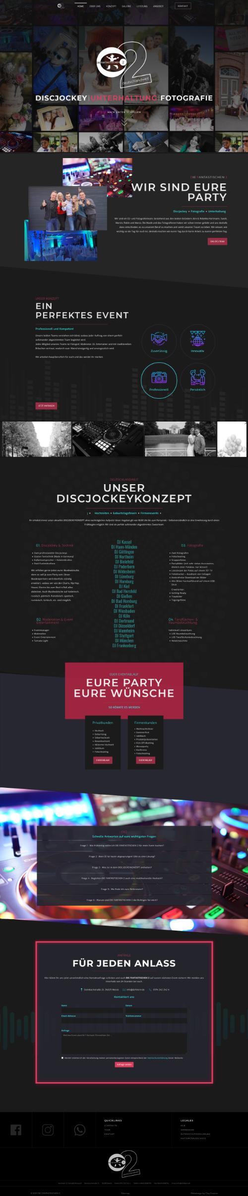 Desktopvorschau für die Webseite dj-feier.de