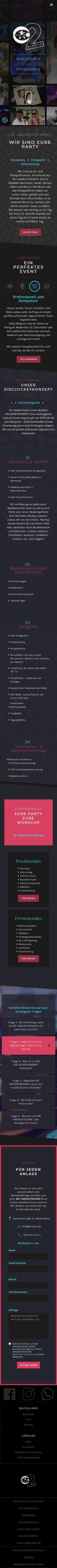 Mobile Vorschau für die Webseite dj-feiern.de