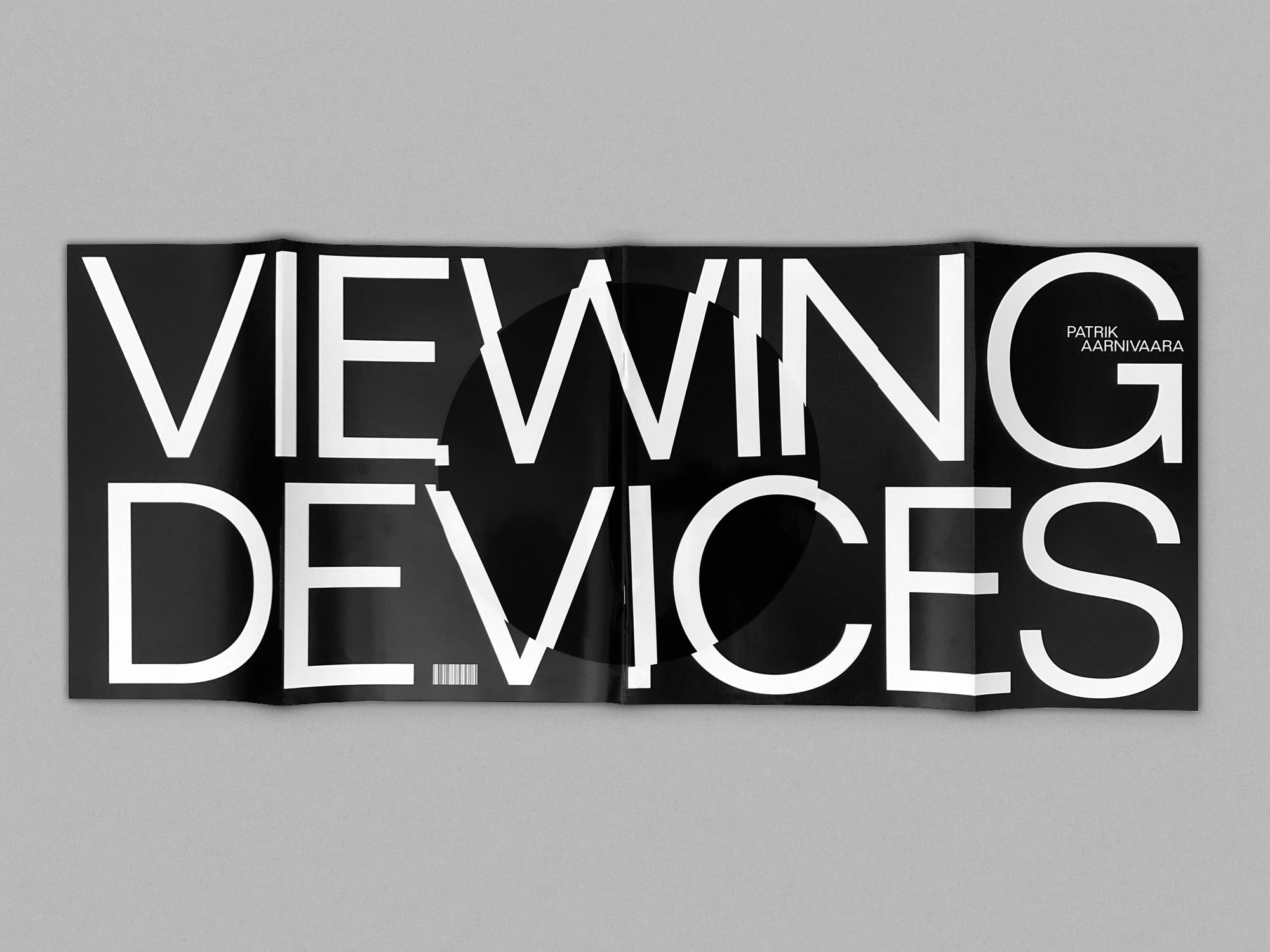 Patrik Aarnivaara Viewing Devices publication cover design