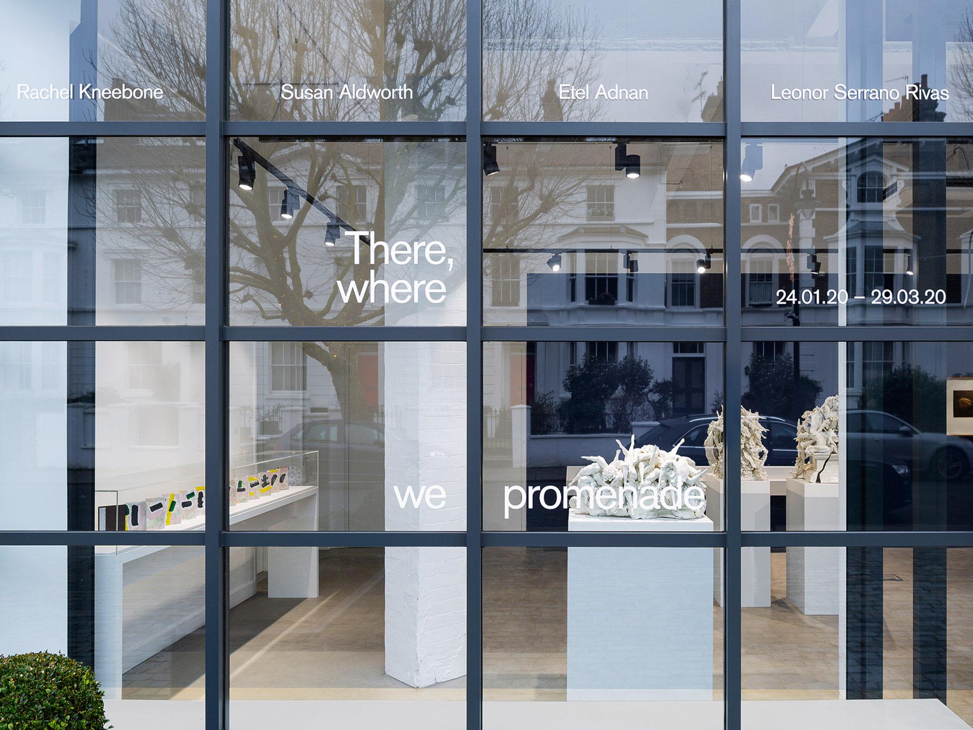 Exhibition window graphics Freelands Foundation