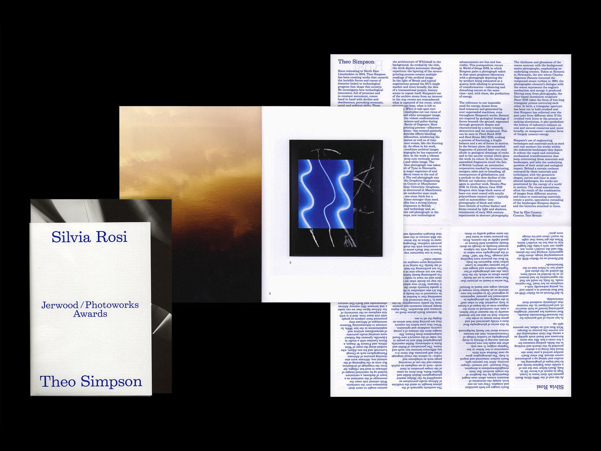 Jerwood Photoworks Award catalogue design